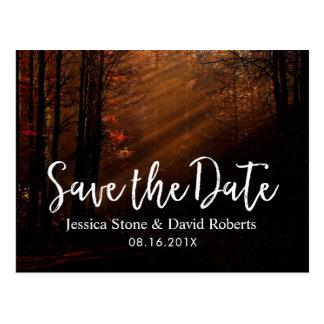 Höstbröllop spara datum vykort