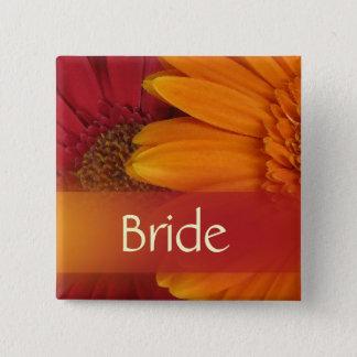 Höstbrudbröllop klämmer fast standard kanpp fyrkantig 5.1 cm