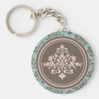 Höstdamast Keychain Rund Nyckelring