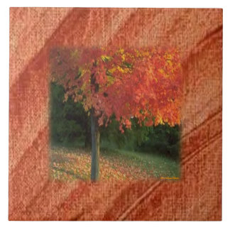 Hösten belägger med tegel stor kakelplatta