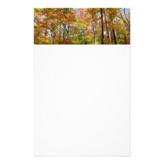 Hösten för nedgångskog II landskap fotografi Brevpapper