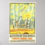 Hösten i den södra kusten för Dyner fodrar Affischer