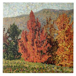 Hösten landskap, c.1903 (olja på kanfas) kakelplatta
