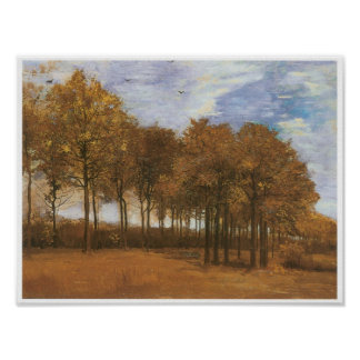 Hösten landskap träd