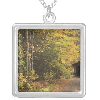 Hösten landskap, Vermont, USA 4 Silverpläterat Halsband