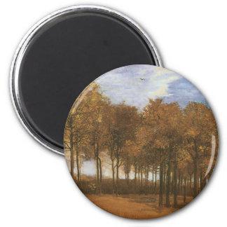 Hösten landskap vid Vincent Van Gogh Magnet