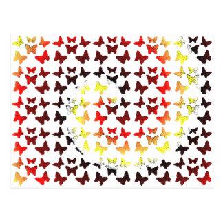 Höstfärg virvlar runt fjärilsmönster vykort