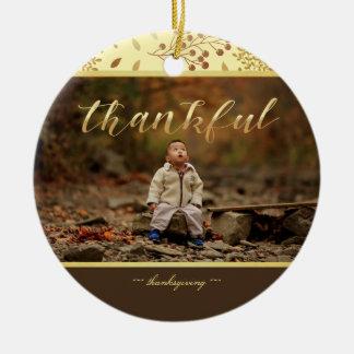 Höstfärger, tacksamt foto julgransprydnad keramik