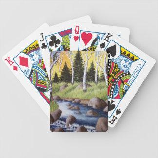 Höstfloden landskap spelkort