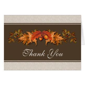 Höstliga löv som gifta sig tack