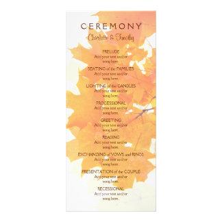 Höstlönnlövbröllopsprogram Reklamkort