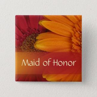 Höstmaid of honor klämmer fast/knäppas standard kanpp fyrkantig 5.1 cm