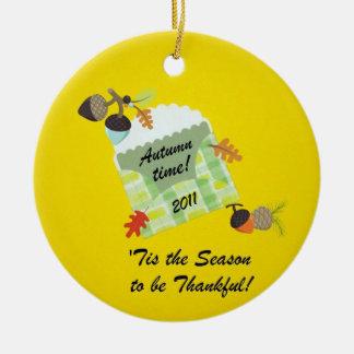 Hösttid! 2011 julgransprydnad keramik