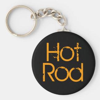 Hot rod rund nyckelring