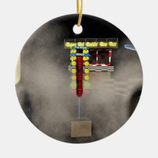 Hot rodhelgdagar julgransprydnad keramik