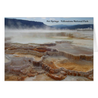 Hot Springs i den yellowstone nationalparken USA Hälsningskort