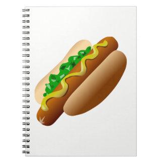 Hotdog Anteckningsbok Med Spiral