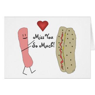 Hotdog Fröcken dig så mycket kort