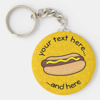 Hotdog Rund Nyckelring