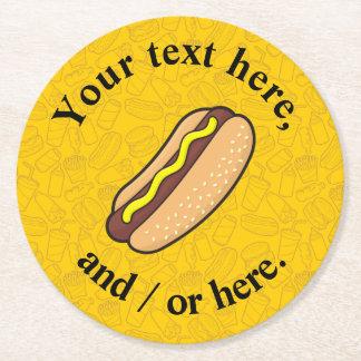 Hotdog Underlägg Papper Rund