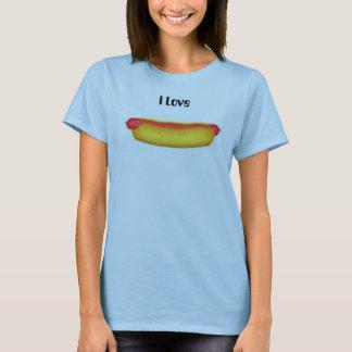 Hotdogen älskar jag tee shirt