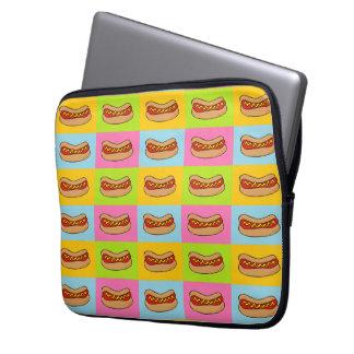 Hotdogs belade med tegel laptop sleeve
