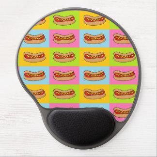 Hotdogs belagd med tegel gelmousepad gel musmatta