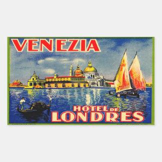 Hotell de Londres (den Venezia italien) Rektangulärt Klistermärke