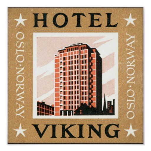 Hotell Viking, Oslo norge Affischer