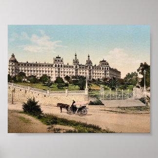HotellExcelsior, Regina slott, Cimiez, Nice, Fran Poster