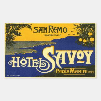 HotellSavoy (den San Remo italien) Rektangulärt Klistermärke