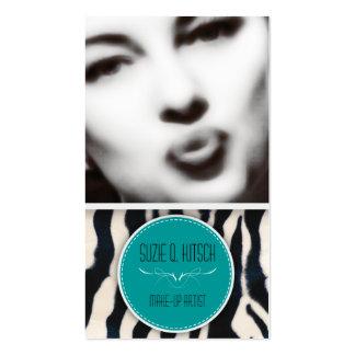 Hötorgskonsten Bitsch: Retro glamourflicka Set Av Standard Visitkort