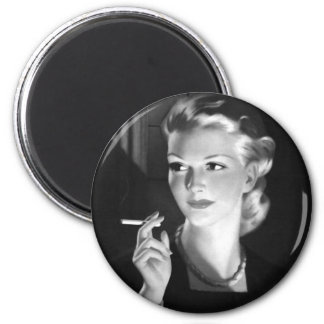 Hötorgskonstvintage som röker cigarettutvikningsfl magnet