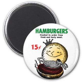 Hötorgskonstvintagehamburgare enda 15¢' magnet