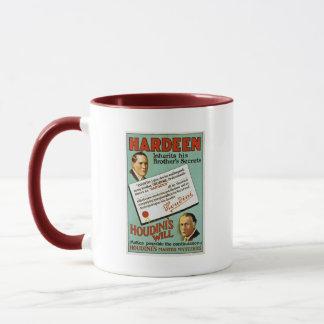 Houdinis annonsering för broderHardeen vintage Mugg