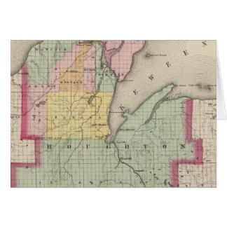 Houghton County Michigan Hälsningskort