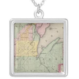 Houghton County Michigan Silverpläterat Halsband