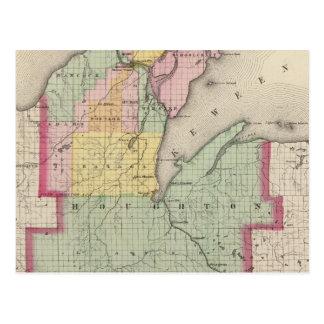 Houghton County Michigan Vykort