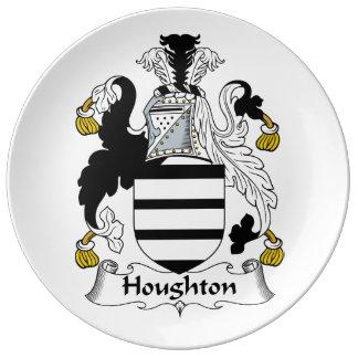 Houghton familjvapensköld porslinstallrik