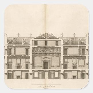Houghton Hall: dela upp av väster beklär, inristat Fyrkantigt Klistermärke