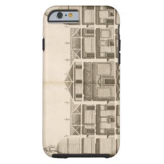 Houghton Hall: dela upp av väster beklär, inristat Tough iPhone 6 Case