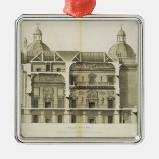 Houghton Hall: tvärsnitt av Hallen och salongen Julgransprydnad Metall