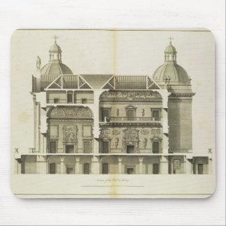 Houghton Hall: tvärsnitt av Hallen och salongen Musmatta