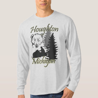 Houghton Michigan Snowmobilebjörn LS Tröja