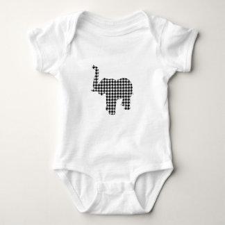 Houndstooth elefant tröja