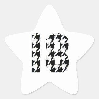 Houndstooth en arton stjärnformat klistermärke