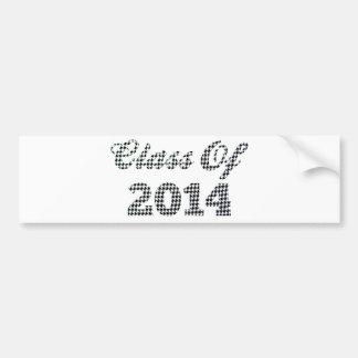 Houndstooth klassificerar av 2014 bildekal