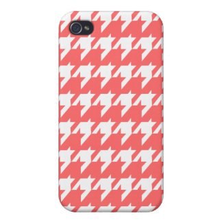Houndstooth korall iPhone 4 cases
