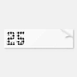 Houndstooth numrerar 25 bildekal