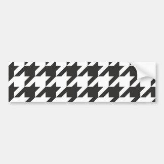 Houndstooth seamless grå färg, svartvitt mönster bildekal